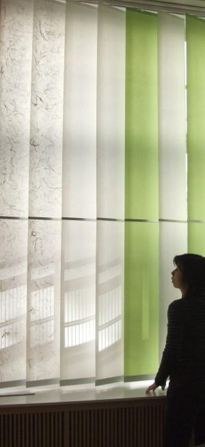 Lamellenvorhang aus Japanpapier MADOCA