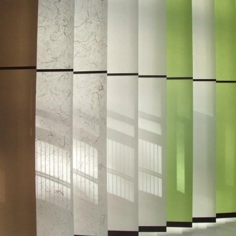 wagami lamellenvorh nge aus rei festem japanpapier madoca. Black Bedroom Furniture Sets. Home Design Ideas