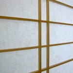 Japanische Shoji mit vertikaler Doppelsprosse