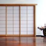Shoji-Trennwand Hemlock im Foyer des Museum für Asiatische Kunst