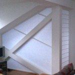 Japanpapier-Kunststoff-Verbundplatten als Raumtrennung im Dachgeschoss