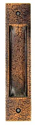 Muschelgriff für Shoji und Schiebetüren, Kupfer geprägt